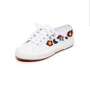 Superga Leather Embroidery Sneakers